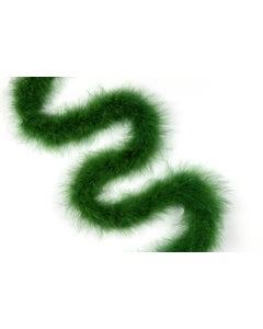 """6 Ft. Medium Weight Solid Color Marabou Boa 2.5"""" - Juniper Green"""