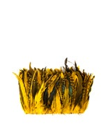 """Bulk Rooster Coque Tails Feathers Dyed Over Chinchilla 7-10 """" - 1/4 lb (1.25 yards)"""