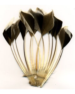 Duck Stripped Center Fan Trim - Bronze/Natural