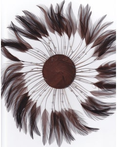 Feather Hackle Plates Solid Colors - Brown