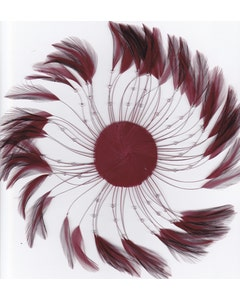 Feather Hackle Plates Solid Colors - Burgundy