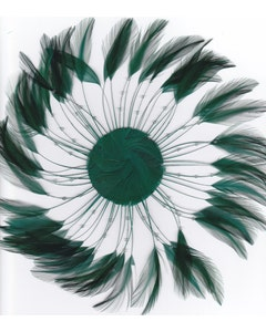 Feather Hackle Plates Solid Colors - Hunter Green
