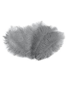 "Bulk Feather Ostrich Drabs - 4-8"" 1/4 lb Silver"