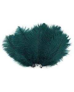 "Bulk Feather Ostrich Drabs - 4-8"" 1/4 lb Teal"