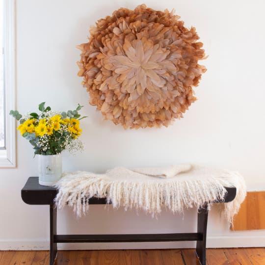 African juju large feather wall art