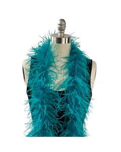 dark blue ostrich feather boa