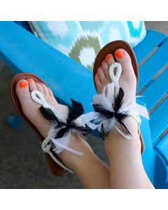 Chandelle Feather Shoe Clip