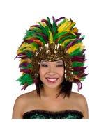 Mardi Gras Feather Headdress