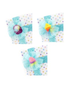 Easter Stickers w/Marabou Spring 3 pc - Spring Mix