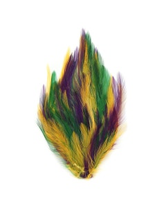 Feather Hackle Pads Mix Dyed - Mardigras Mix