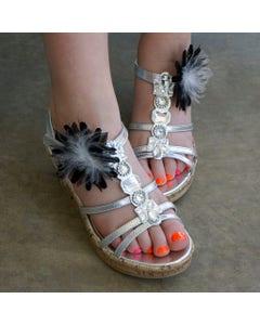 Feather Shoe Clip with Marabou | Hackle | Felt