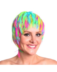 Multi Colors Party Feather Wig