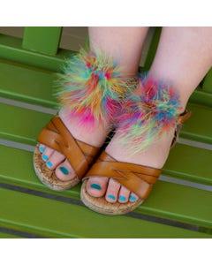 Feather Shoe Clip w/Multi Marabou - Hot Mix