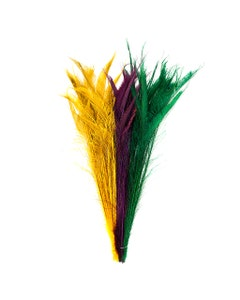 Mardi Gras Bleached Dyed Peacock Sword Feathers