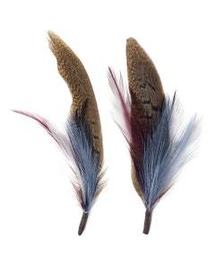 Pheasant-Hackle Feather Hat Trims