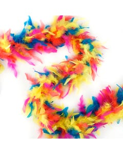 Lightweight  Multi Colors Chandelle Feather Boas - Hot Mix