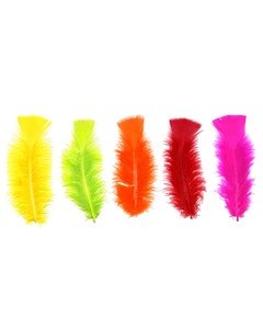 """Loose Turkey Flats Section Dyed - 4-6"""" - 36 PC - Neon Mix"""