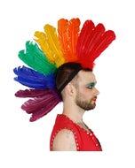 Pride Rainbow Feather Mohawk