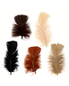 Loose Turkey Plumage Mix Dyed - Earth Mix