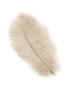 Ostrich Feather Drabs - 12 pieces 13-16 inch - Beige