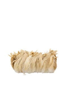 Rooster Coque Tail Feathers Bleach and Dyed - Beige