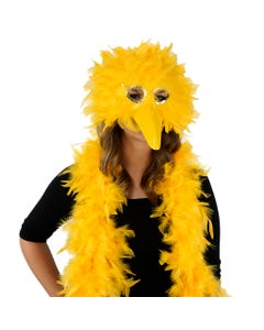 Zucker Feather Products - Bigbird Gold Feather Mask and Boa set