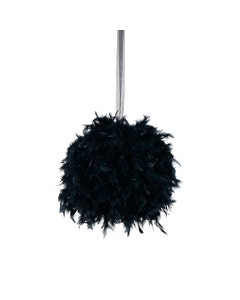Chandelle Feather Pom Poms - Black