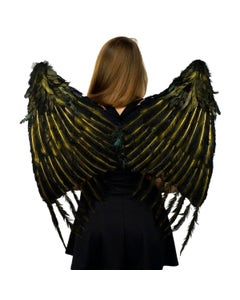 Custom Large Maleficent Feather Wings - Black Cosplay Costume Fairy Angel Wing