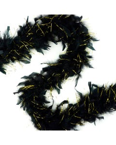Chandelle Boas with Lurex - Black/Gold Lurex