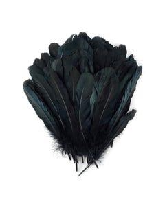 Goose Favion Feathers - Black - Iridescent