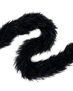 Rooster Hackle Boas Dyed - Black