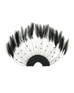 Hackle Plate Trims with Beads - Black