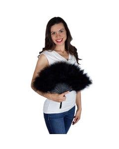Marabou Feather Fan - Black