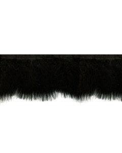 Marabou Feather Fringe - Black