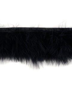 Marabou Feather Fringe Black