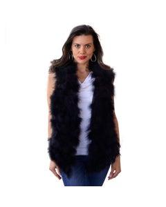 Marabou Feather Vest