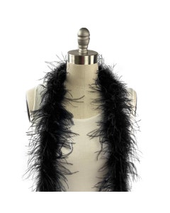 Value Two-Ply Ostrich Feather Boa - Black