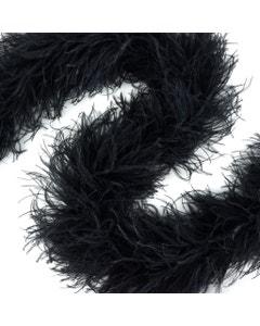 Black Ostrich Feather Boas