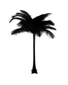 Ostrich Eiffel Tower Centerpiece Black w/Black Vase
