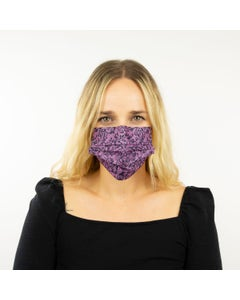 Black and Purple Fancy Disposable Lace Mask