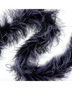Ostrich Boas Multi Colors Black/Dusty Lavender