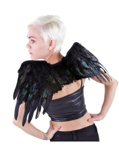 HALLOWEEN RAVEN FEATHER WING