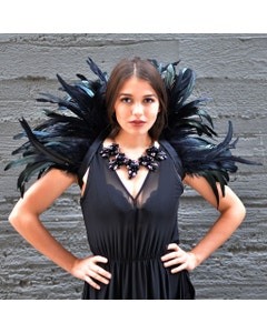 Feather Collar Black