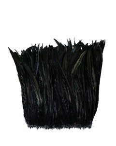 """Rooster Coque Tails Feathers Dyed Over Half Bronze 13-16 """" [1/4 LB Bulk]"""