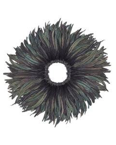"""Rooster Coque Tails Feathers Black Iridescent 10-12 """" [1 yard roll]"""
