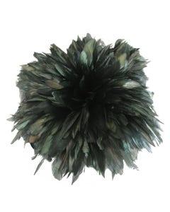 Rooster Schlappen-Half Bronze 1YD - Black/Iridescent