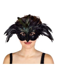 Halloween Raven Feather Mask