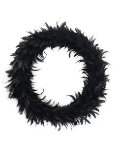 Black Feather Wreath