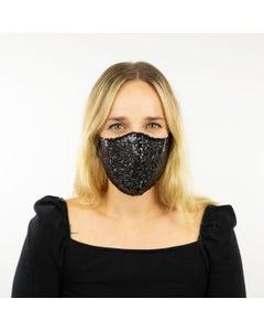 Black Sequin Reusable Face Mask