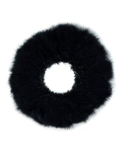 """TURKEY MARABOU GOOD QUILL FEATHERS 3-4"""" - BLACK"""